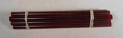Beautiful rare lot of galalith amber marbled 8 rods 180grams