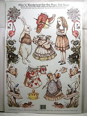 The Classic Alice In Wonderland Paper Doll Sheet By B. Shackman