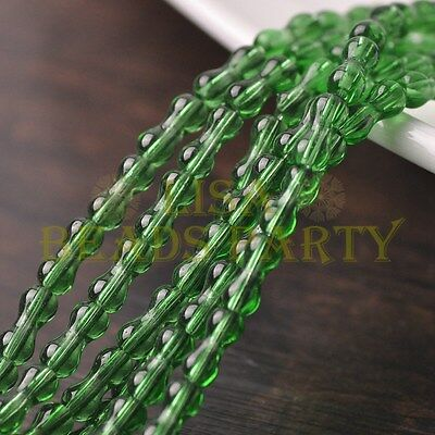 Hot 68~71pcs/Strand 8X3.5mm Bone Shape Spacer Glass Beads Jewelry Green