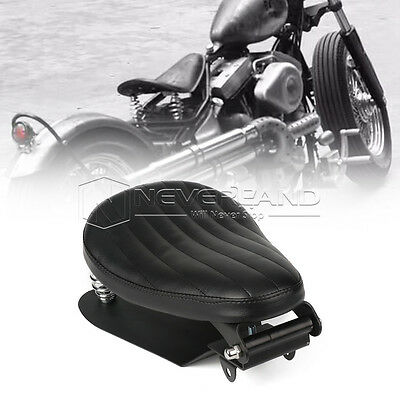 "12.6"" Stripe Solo Spring Bracket Seat Base For Harley Sportster Chopper Bobber"