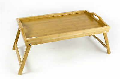 Bamboo Folding Breakfast In Bed/serving Tray/wood/wooden /foldable Legs- Kitchen