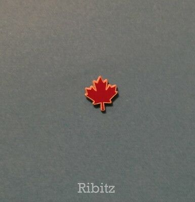 Souvenir Lapel PIN Badge: Canadian red and white maple leaf pin CANADA