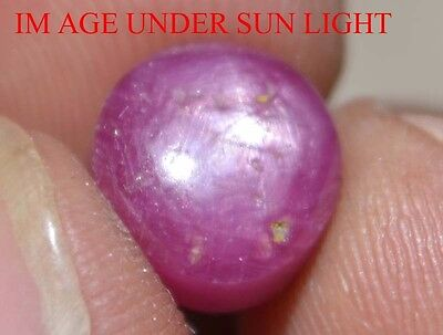 6.85 Cts NATURAL STAR RUBY/SAPPHIRE BEAUTIFUL UNHEATED UNTREATED {VIDEO} F2162