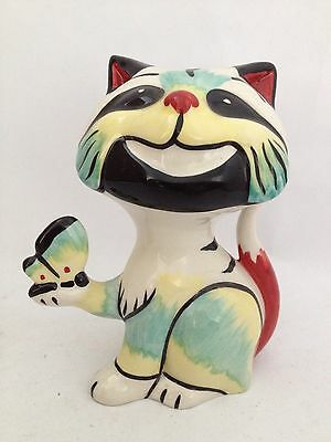Lorna Bailey Butterfly Cat. Signed, Great Condition.
