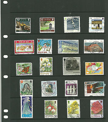 Isle of man 3 stock sheets mix collection stamps