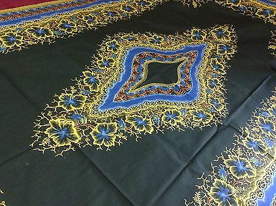 Guaranteed Dutch Java Print Length Of Material 2 Yards African Green Yellow Blue