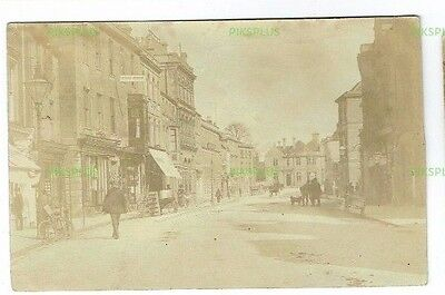 Old Postcard Warminster Market Place Wiltshire Real Photo Used 1908