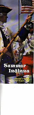 Summer Indiana Calendar of Events July-August 1974 Vintage Booklet
