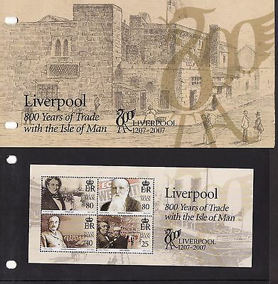 2007 Isle of Man, Trade with Liverpool, Miniature Sheet, Presentation Pack