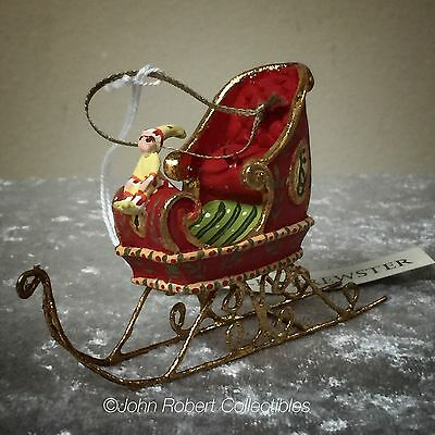 Patience Brewster Krinkles Dash Away Sleigh Mini Christmas Ornament
