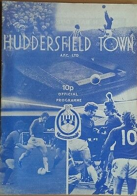 HUDDERSFIELD TOWN v HARTLEPOOL UNITED 76-77 LEAGUE CUP MATCH