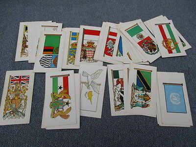 49 Of 50 Brooke Bond Flags And Emblems Of The World Tea Cards