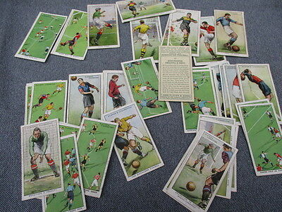 48 Of 50 John Player Hints On Association Football Cigarette Cards