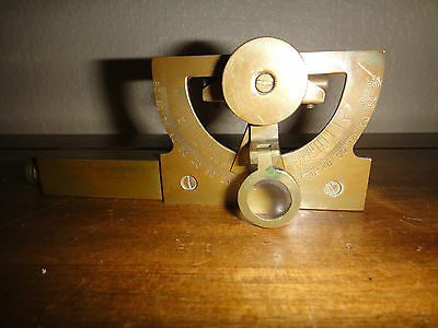 Abney Level Clinometer Brass Surveying Engineering Scientific Instrument As Seen