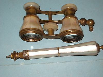 Vintage Mother of Pearl Opera Glasses With Handle