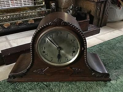 Vintage Napoleon Hat Mantel Clock With Westminster Chimes