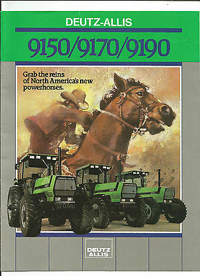 Deutz Allis 9150 9170 9190 Tractor Brochure