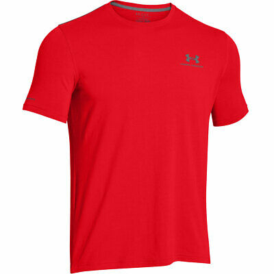 Under Armour 2017 Mens Charged Cotton Left Chest Lockup T Shirt UA Gym Training