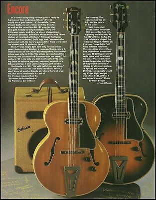 The 1939-1940 Gibson ES-250 series + EH-185 guitar amp 1994 full page article