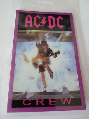 AC/DC Crew Staff Access All Areas Laminated Backstage Pass