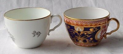 Two C19Th Spode Bute Shaped Cup With Kicked Handle