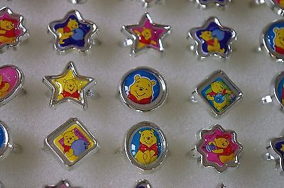 12x Children Kids rings Winnie the Pooh party bag filler birthday gift