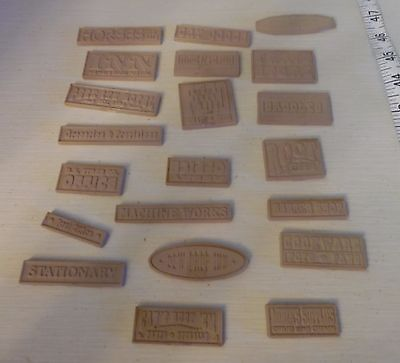 Dollhouse Miniatures - Lot of 21 Vintage Signs - Western