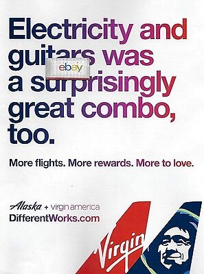 Alaska Airlines & Virgin America Electricity & Guitars Was A Great Combo 2017 Ad