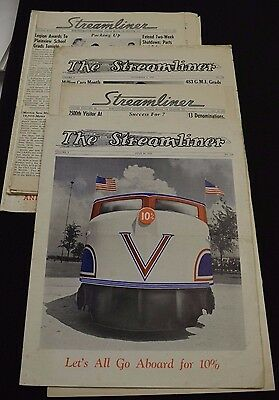 Lot of 14 1940s The Streamliner Paper IL