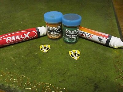 Reel X High Performace Fresh & Saltwater Fishing Reel Lubricants Oil & Grease