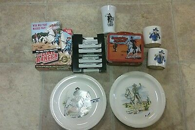 Misc Items Hopalong Cassidy Plates, milk glass  and partial chronicles mixed lot