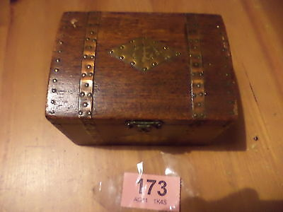 Vintage Lined Wooden Tea Caddy By '' Tallent ''