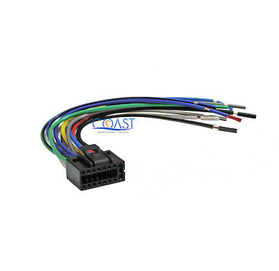 16-Pin Replacement Wiring Harness for 2009 - up JVC Stereo Headunit