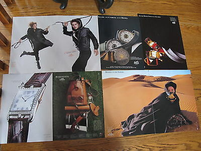 Vintage Hermes Lot Print Ads Clippings