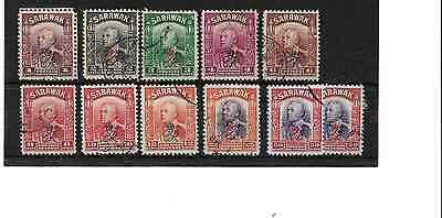 SARAWAK 1947 - Part Set Crown Colony Issue Used