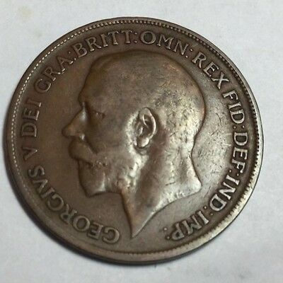 GREAT BRITAIN 1920 1 Penny coin circulated