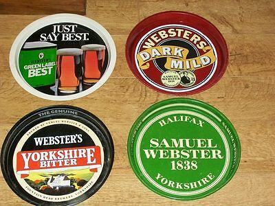 4 Websters/webster's Beer Trays -Halifax Fountain Head Brewery