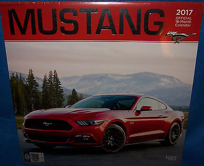 2017 Wall Calendar Ford Mustang Official 18 Month