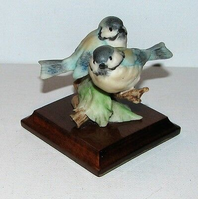 Vintage Armani Guiseppe Italy Cold Cast Chickadee Bird Figurine PERFECT!
