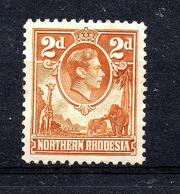 Northern Rhodesia (1099) 1938 King George V1 2d Yellow Brown Mounted mint Sg31