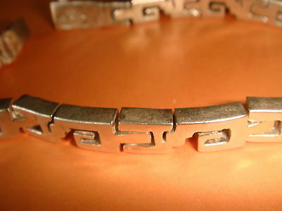 Vintage Hinged Sections Sterling Silver 925 Art Deco Bracelet- Mexico  RARE