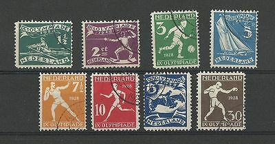 Netherlands 1928 Olympic Games Amsterdam Set Sg 363/70 Fine Used