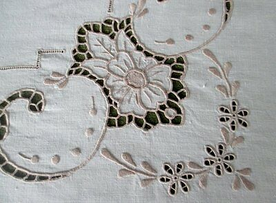 Vintage Madeira Tablecloth -  Hand Embroidered - Linen