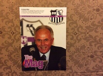 Notts County pre-season programme 2009 Forest Derby Liverpool