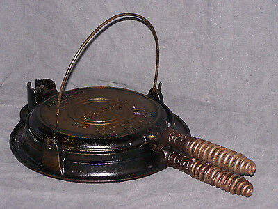 Griswold American No 8 151 N Waffle Iron with Bail Handle Base 152 Pat App'd For