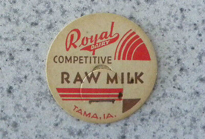 Vintage Royal Dairy,Competitive Raw Milk, Tama, Iowa IA Bottle Cap, Lid