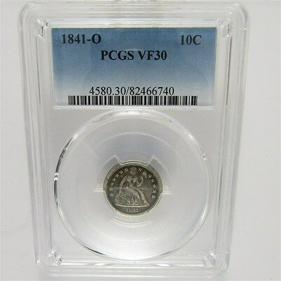 1841-O Seated Liberty Dime 10c Silver - Certified & Graded PCGS VF30 Very Fine