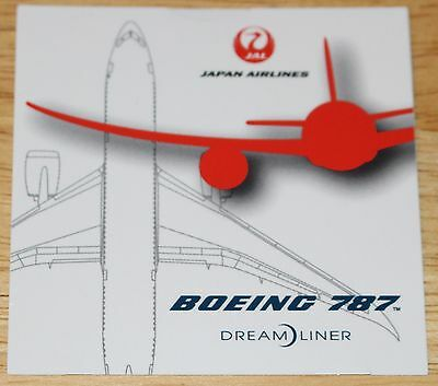 JAL Japan Airlines Boeing 787 Dreamliner Sticker 2