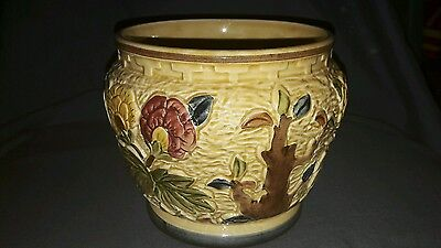 "Vintage Ceramic Planter, ""Indian Tree"" H.J.Wood Staffordshire England."