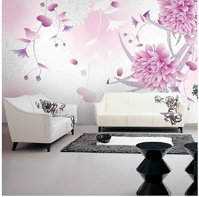 Modern Simple Style Flower Pattern Background Bedroom Living Room WallPaper